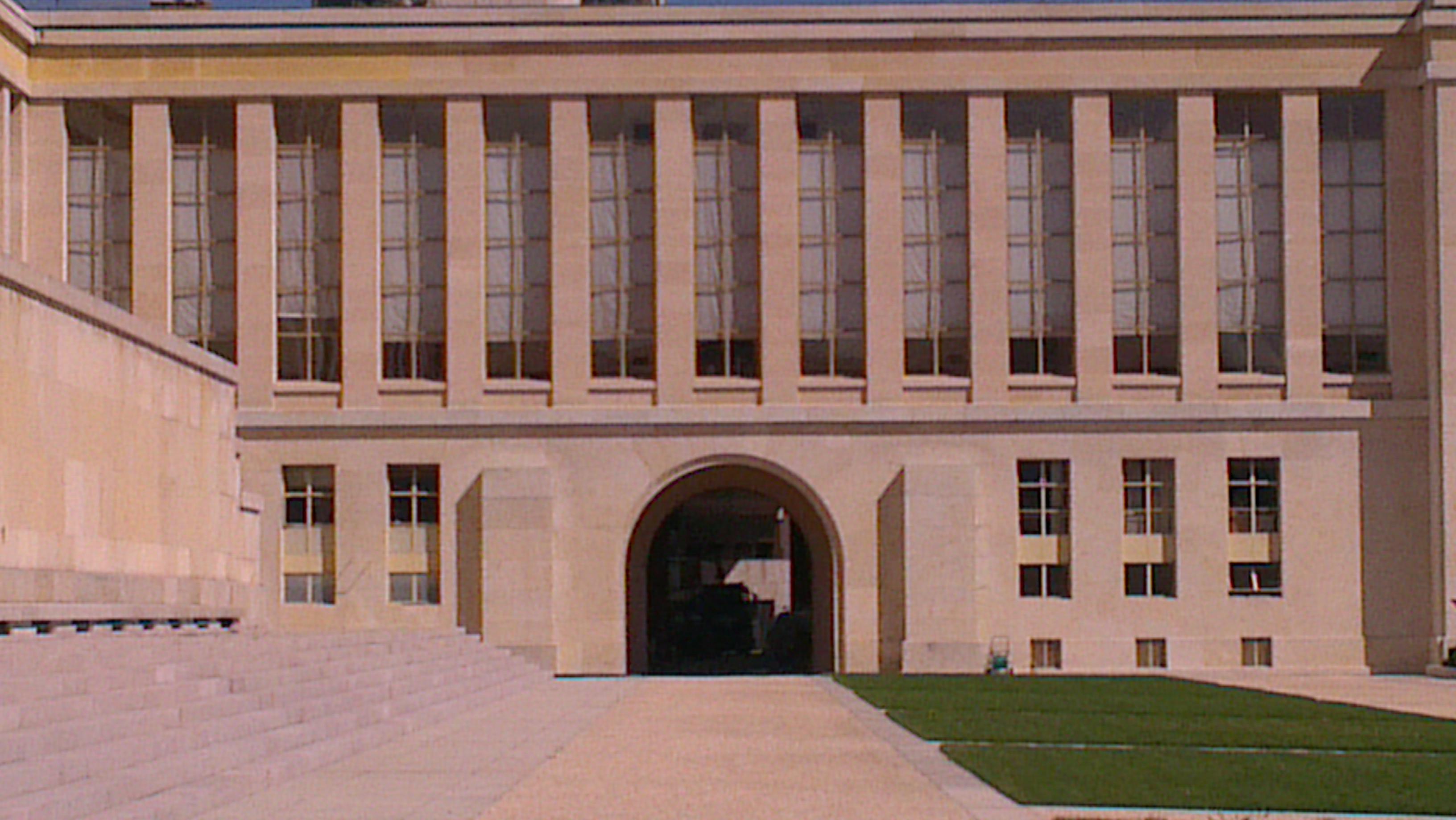 Bâtiment de la paix à Genève GVA comprenant des nombreuses conférence sur la paix, les pays représenté doivent respecter la charte Onusiene