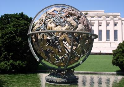 globe de la paix des peuples et des discutions agence internationale de l'énergie atomique coordination des affaires humanitaires Conférence des Nations unies sur le commerce et le développement pour l'alimentation et l'agriculture
