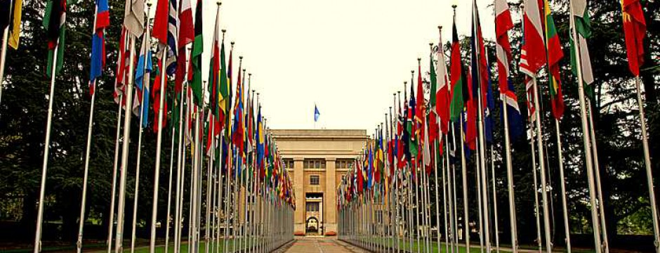 avenue; building; color; communications; conference; countries; day; diminishing; diplomacy; europe; european; exterior; flag; friendship; front; geneva; global; government; group; horizontal; image; institution; international; landmarks; large; locations; multicolored; national; nations; nobody; objects; outdoors; peace; people; perspective; photography; point; politics; road; row; street; structure; swiss; switzerland; symbols; tranquil; travel; united; unity; vanishing;