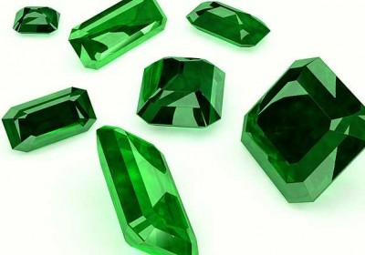 3d; cut; emerald; gem; green; jewel; jewellery; light; precious; seven; white;